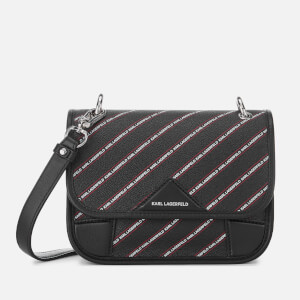 Karl Lagerfeld Women's Stripe Logo Tote Bag - Black