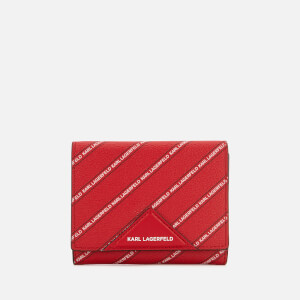 Karl Lagerfeld Women's K/Stripe Logo Medium Wallet - Red