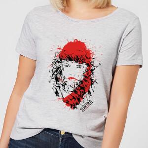 T-Shirt Femme Elektra la Mort dans les Yeux - Marvel Knights - Gris