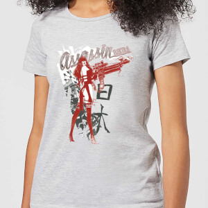 T-Shirt Femme Elektra Assassin - Marvel Knights - Gris