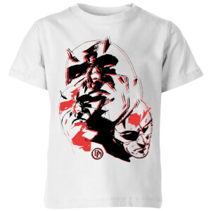 Marvel Knights Daredevil Layered Faces Kinder T-shirt - Wit