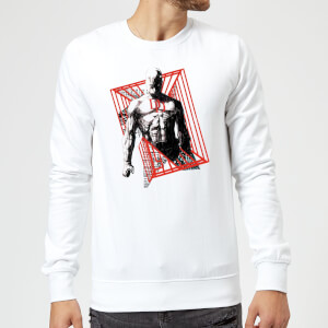 Sweat Homme Daredevil Cage - Marvel Knights - Blanc