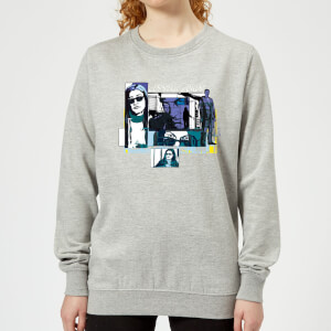 Marvel Knights Jessica Jones Comic Panels Women's Sweatshirt - Grey
