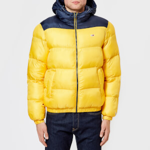 Tommy Jeans Men's TJM Tommy Classic Padded Jacket - Spectra Yellow/Black Iris