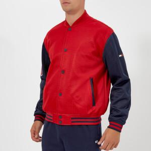 Tommy Jeans Men's TJM Varsity Mesh Jacket - Samba/Black Iris