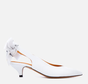 Ganni Women's Sabine Sling Back Kitten Heels - Bright White
