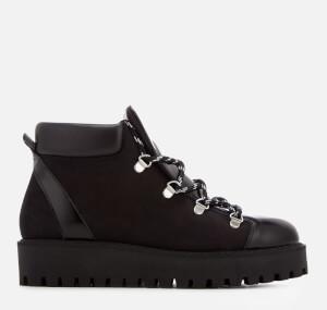 Ganni Women's Alma Hiking Style Flat Boots - Black