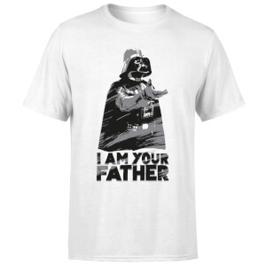 Star Wars Darth Vader I Am Your Father Sketch Men's T-Shirt - White