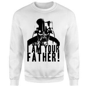 Star Wars Darth Vader I Am Your Father Confession Sweatshirt - White