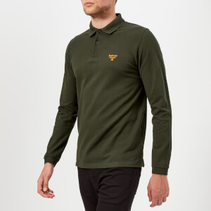 Barbour Men's Beacon Long Sleeve Polo Shirt - Forest