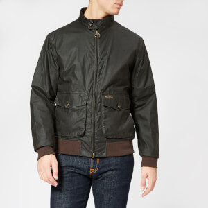 Barbour Men's Hagart Wax Jacket - Dark Olive
