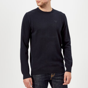 Barbour Men's Lambswool Crew Neck Knitted Jumper - Navy