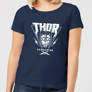 Marvel Thor Ragnarok Asgardian Triangle Women's T-Shirt - Navy