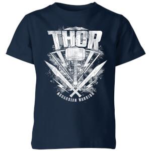 Marvel Thor Ragnarok Thor Hammer Logo Kids' T-Shirt - Navy