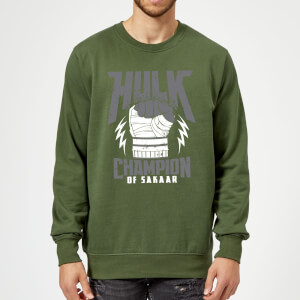 Marvel Thor Ragnarok Hulk Champion Sweatshirt - Forest Green