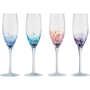 Anton Studio Designs Speckle Champagne Flute (Set of 4)