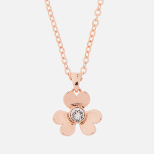 Ted Baker Women's Harpria: Heart Blossom Pendant - Rose Gold/Crystal