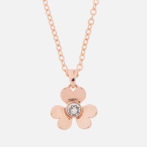 Ted Baker Women's Harpria: Heart Blossom Pendant - Rose Gold/Crystal