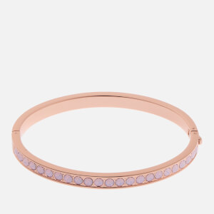 Ted Baker Women's Clemara: Hinge Swarovski Crystal Bangle - Rose Gold/Rose Water Opal