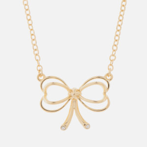 Ted Baker Women's Lahri: Small Heart Bow Pendant - Pale Gold/Crystal
