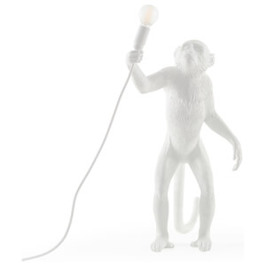 Seletti Indoor/Outdoor Standing Monkey Lamp - White
