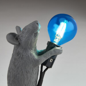 Seletti Standing Mouse Lamp - Grey: Image 5