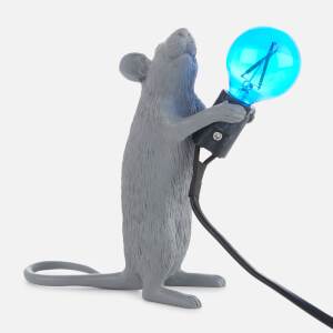Seletti Standing Mouse Lamp - Grey: Image 2