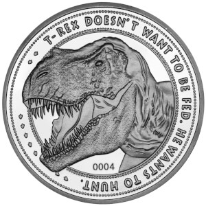 Limited Edition Jurassic Park 'T-Rex' Coin - Silver Edition