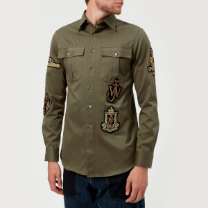 JW Anderson Men's Multi Patches Pockets Shirt - Peat