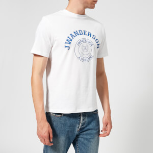 JW Anderson Men's University Logo Print T-Shirt - Optic White