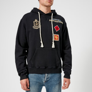 JW Anderson Men's Multi Patch Hoodie - Navy