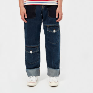 JW Anderson Men's Multi Pocket Denim Trousers - Indigo