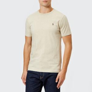 Polo Ralph Lauren Men's Basic Crew Neck Short Sleeve T-Shirt - Expedition Dune Heather