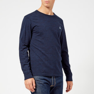 Polo Ralph Lauren Men's Basic Crew Neck Long Sleeve T-Shirt - Worth Navy Heather