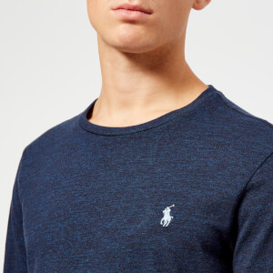 Polo Ralph Lauren Men's Basic Crew Neck Long Sleeve T-Shirt - Worth Navy Heather: Image 4