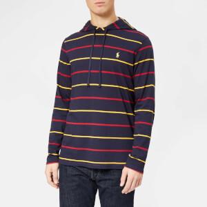 Polo Ralph Lauren Men's Stripe Hooded Long Sleeve T-Shirt - Ink Multi