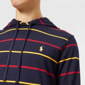 Polo Ralph Lauren Men's Stripe Hooded Long Sleeve T-Shirt - Ink Multi: Image 4