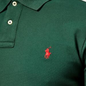 Polo Ralph Lauren Men's Slim Fit Short Sleeve Polo Shirt - College Green: Image 4