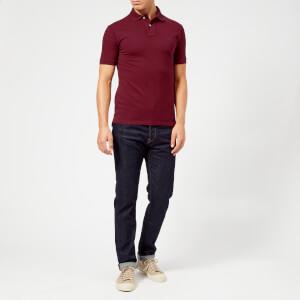 Polo Ralph Lauren Men's Slim Fit Short Sleeve Polo Shirt - Classic Wine: Image 3