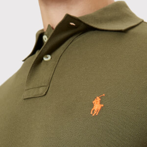 Polo Ralph Lauren Men's Slim Fit Short Sleeve Polo Shirt - Expedition Olive: Image 5