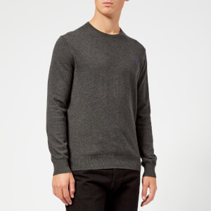 Polo Ralph Lauren Men's Crew Neck Pima Knitted Jumper - Dark Charcoal Heather