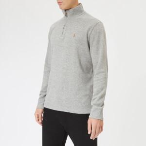 Polo Ralph Lauren Men's Half Zip Sweater - Dark Vintage Heather