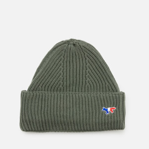 Maison Kitsuné Men's Ribbed Hat - Light Khaki