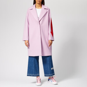 MSGM Women's Coat with Arrow Down the Side - Pink