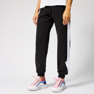 MSGM Women's Track Pants with Arrow Down the Side - Black