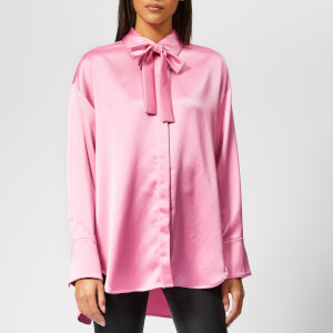 MSGM Women's Shirt with Logo on Back - Pink