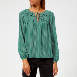 Whistles Women's Pascal Spot Cross Back Top - Green/Multi