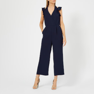 Whistles Women's Larkin Double Strap Frill Jumpsuit - Navy
