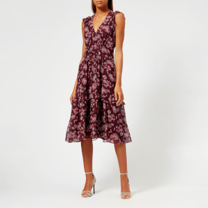Whistles Women's Pitti Print Double Strap Dress - Pink/Multi