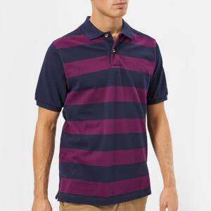 Joules Men's Filbert Striped Polo Shirt - Dark Purple Stripe